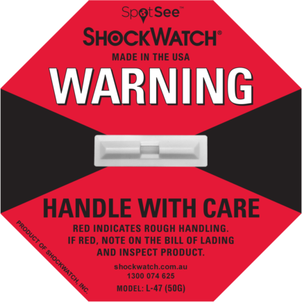 ShockWatch fra Elcon Broker L 47 - ShockWatch rød