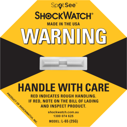 ShockWatch fra Elcon Broker L 65 - ShockWatch gul