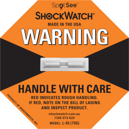ShockWatch fra Elcon Broker L 35 - ShockWatch Oransj
